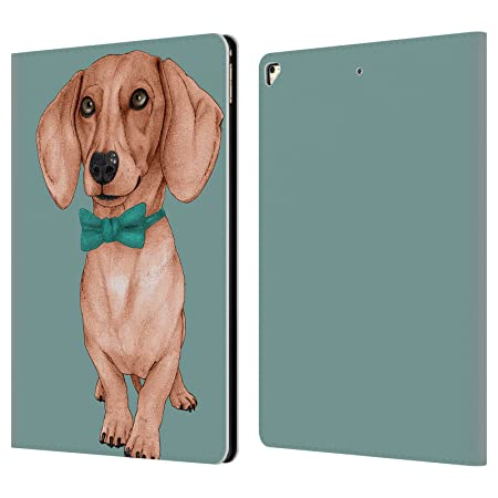 Official Barruf Dachshund, The Wiener Dogs Leather Book Wallet Case Cover for Apple iPad Pro 12.9  2017  Tablet Accessories