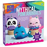 Craft-tastic – DIY Mythical Pom Animals – Craft Kit Makes 3 Pompom Stuffed Animals – Magical Narwhal, Puffy Pandacorn…