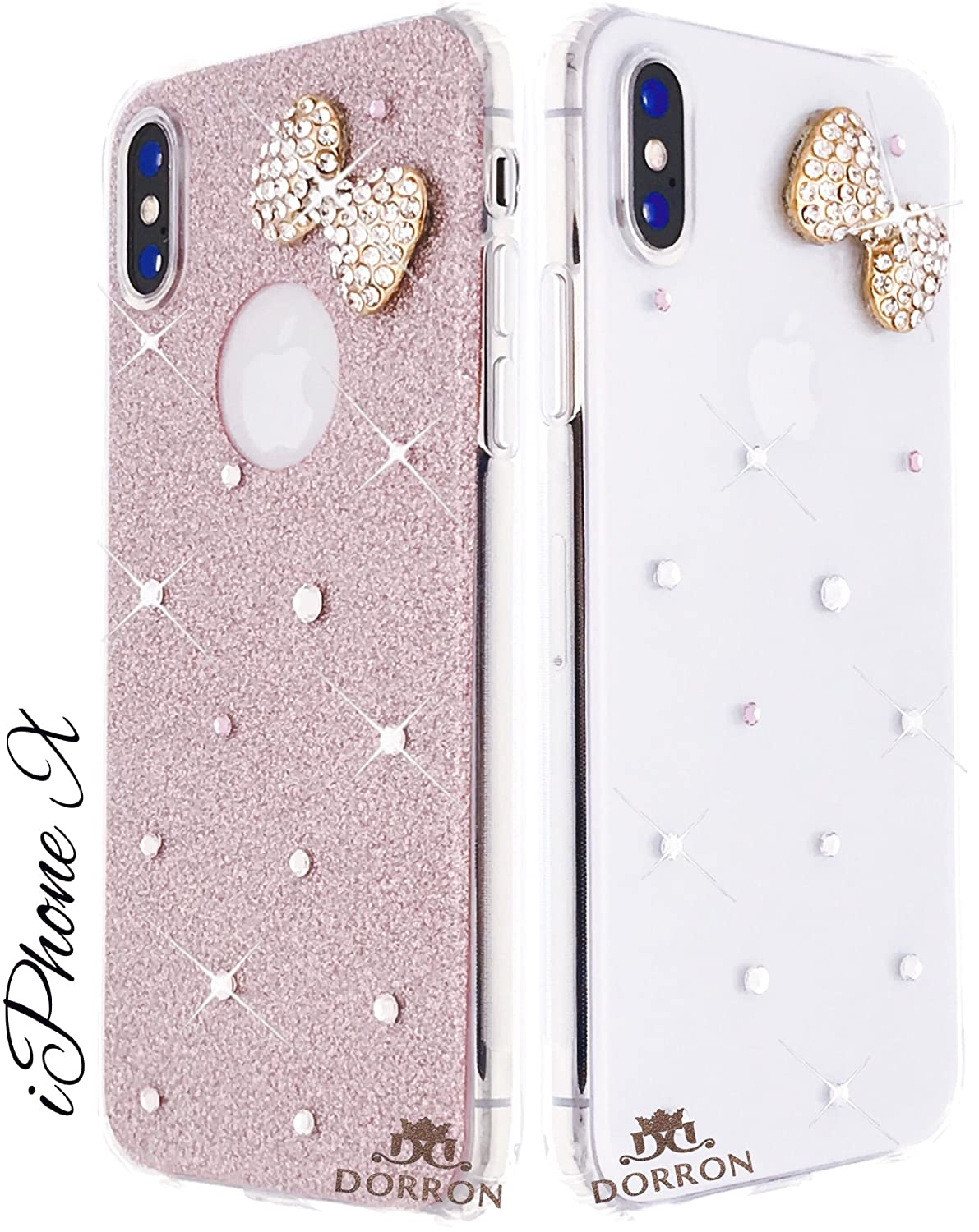 DORRON Back Case Cover for Apple iPhone X /10 (Rose Gold)