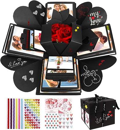 Customizable gift for best friend. Friendship Memory DIY Photo Album Explosion Gift Box