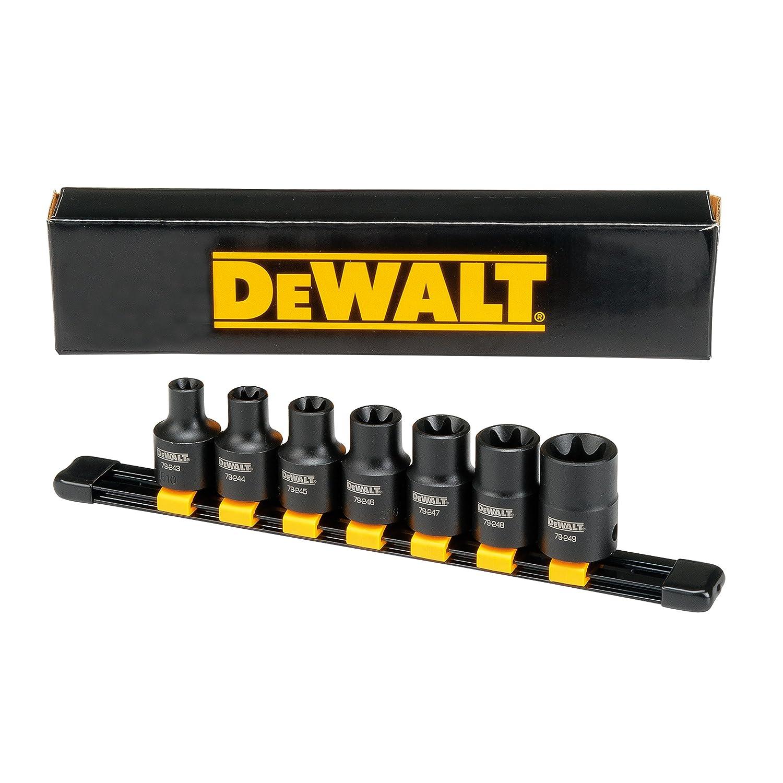 DEWALT 7PC MM 1/2'Drive Impact Extension Torx Set Stanley Black & Decker DWMT19260