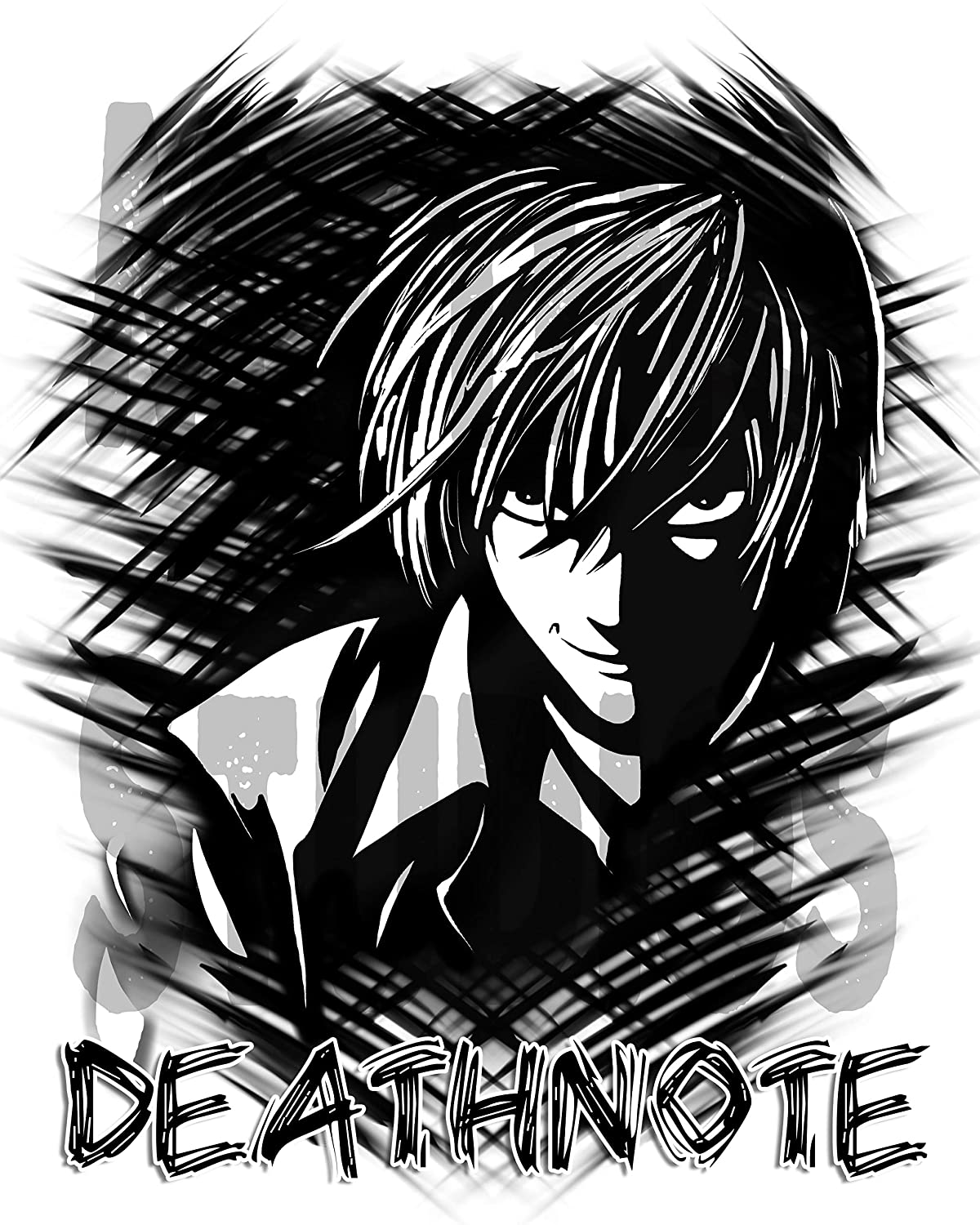 Personalized Airbrush Deathnote License Plate Tag