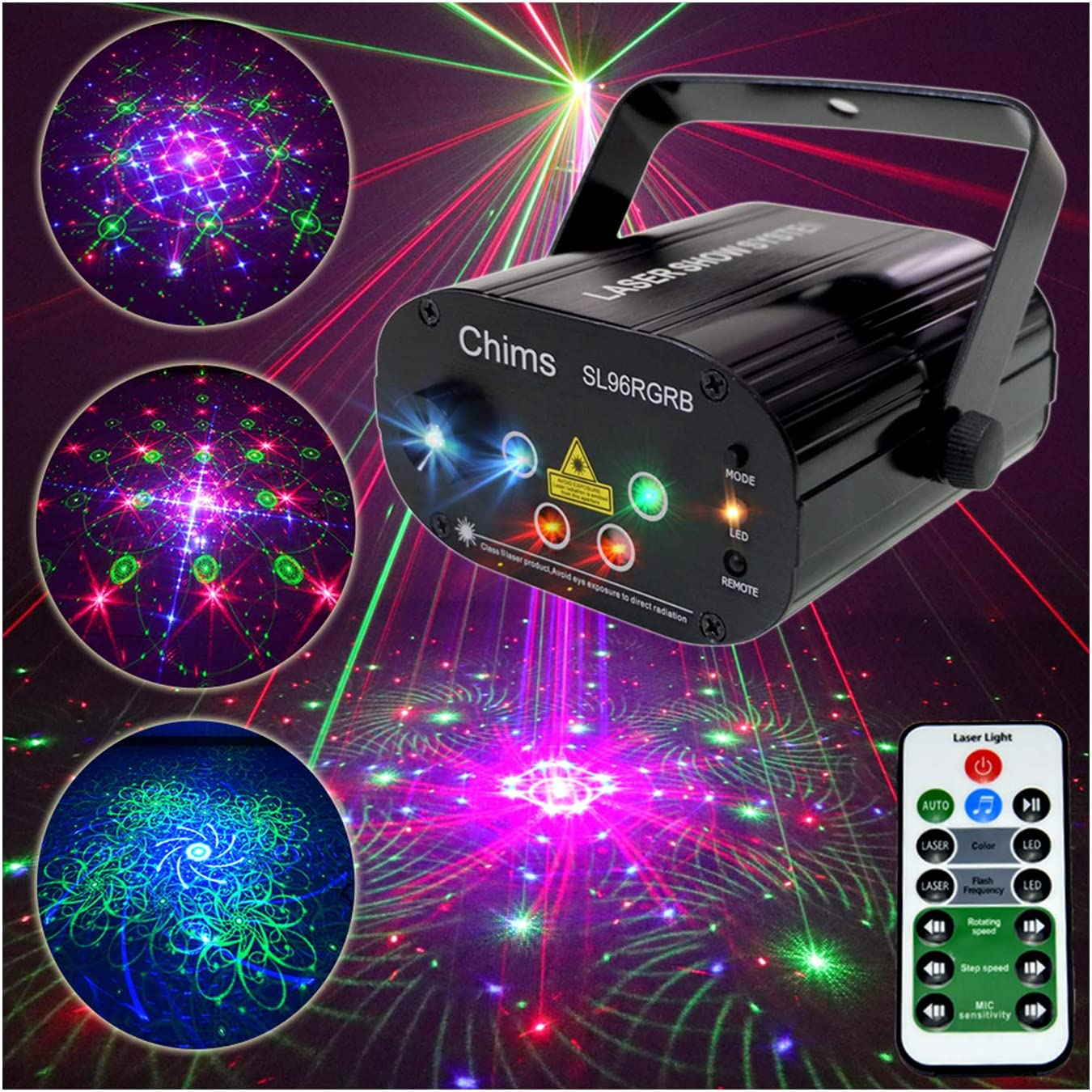 Chims DJ Party Laser	 Weight : 0.4 kg Colors : Red,