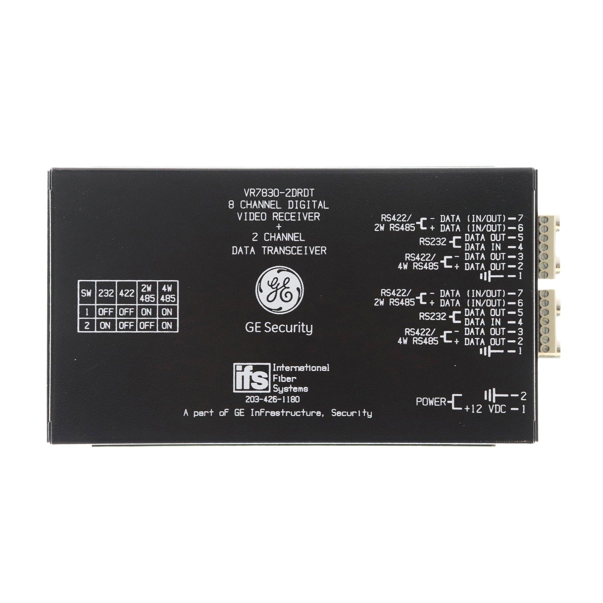 IFS GE VR7830-2DRDT 8-Channel Digital Video, 2-Channel Multiplexer Module
