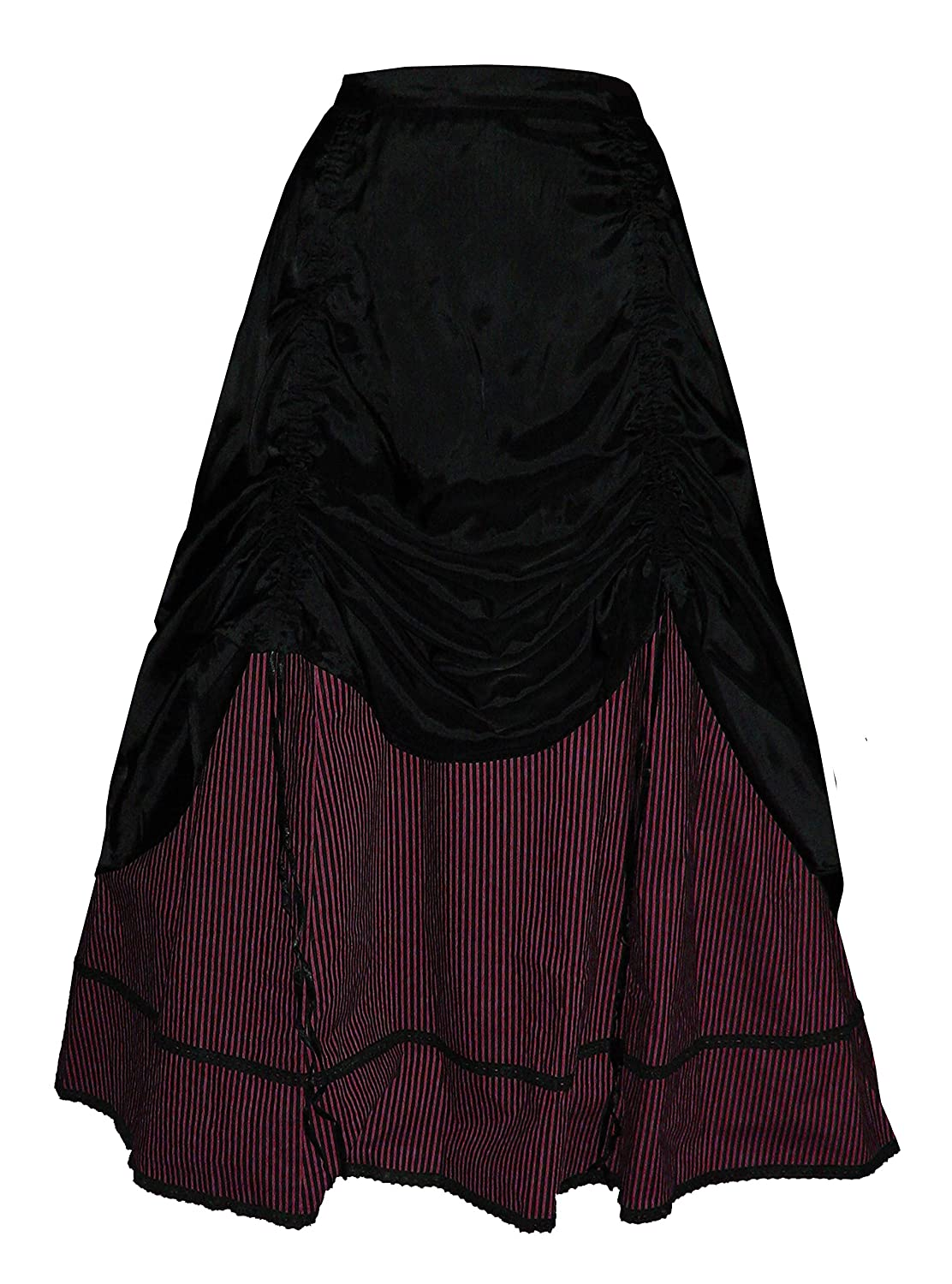 Steampunk Skirts | Bustle Skirts, Lace Skirts, Ruffle Skirts Funhouse Victorian Valentine Steampunk Gothic Civil War Striped Womens & Skirt $77.00 AT vintagedancer.com