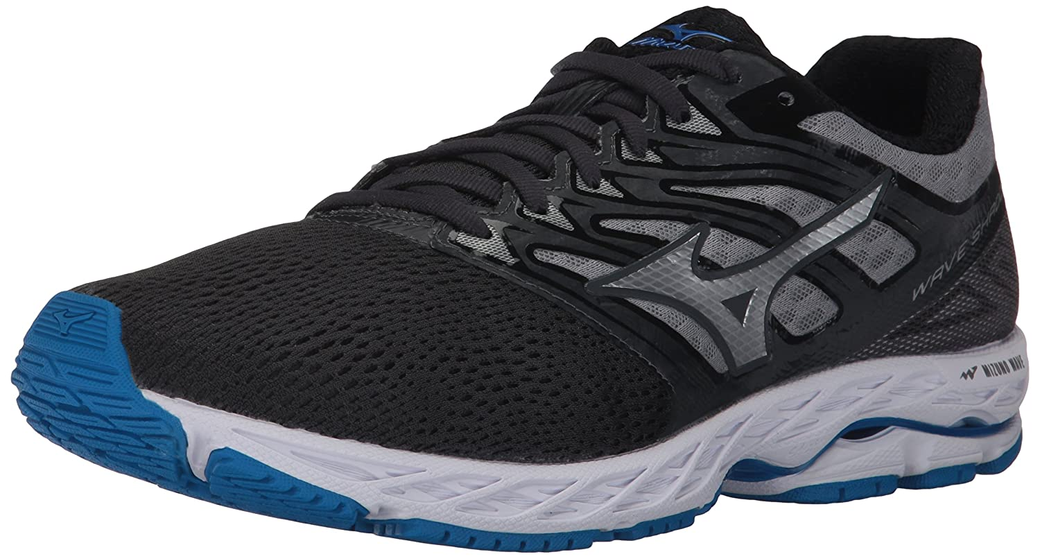 Mizuno Running Men's Wave Shadow Running-Shoes B01N9ET856 7 D(M) US|Iron Gate/Silver/Blue Jewel