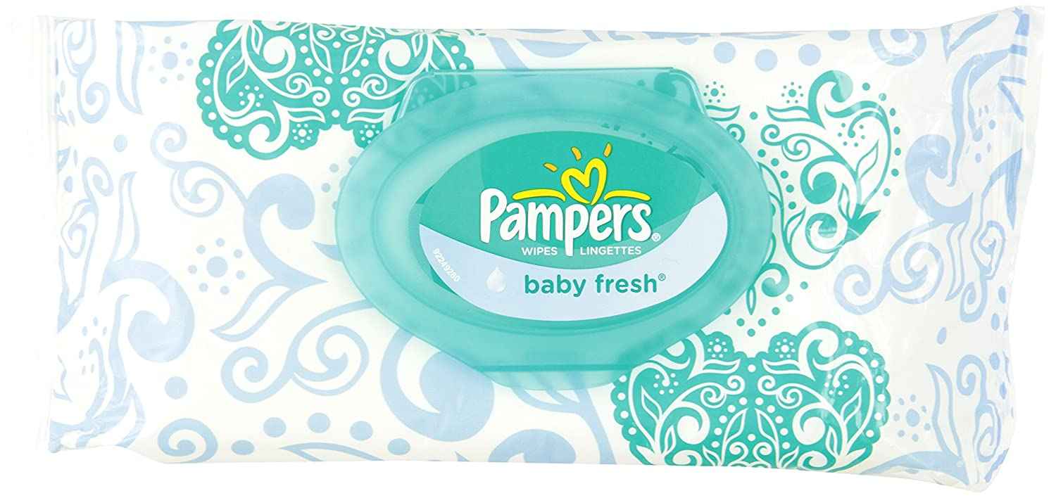 Pampers Baby Fresh Wipes 1x Travel Pack, 72 Count (Pack of 8) 37000501978