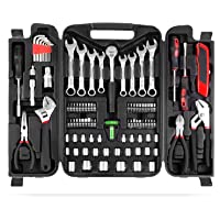 FIXKIT 95 teiliger Haushalts-Werkzeugkoffer Universal Handwerkzeug