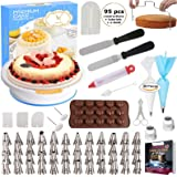 95 pcs Cake Decorating Supplies Kit by Cake Decorating District - Includes 48 Icing Tips - Silicone Pastry Bag and…