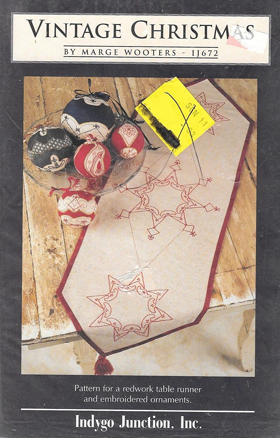 Amazon.com: Pattern for Redwork Table Runner and Embroidered Ornaments:  Arts, Crafts & Sewing