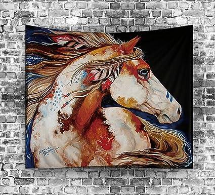 Amazon Com Ouliu Horse Oil Painting Printed Beach Towel India