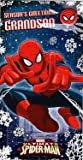Spiderman Grandson Christmas Card And Badge