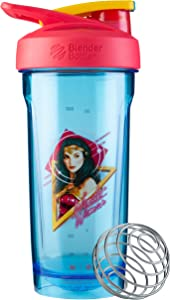 Blender Bottle Strada Tritan Shaker Bottle, 28-Ounce, Wonder Woman Head