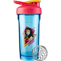 BlenderBottle Justice League Strada Shaker Cup Perfect for Protein Shakes and Pre Workout, 28-Ounce, Wonder Woman Head