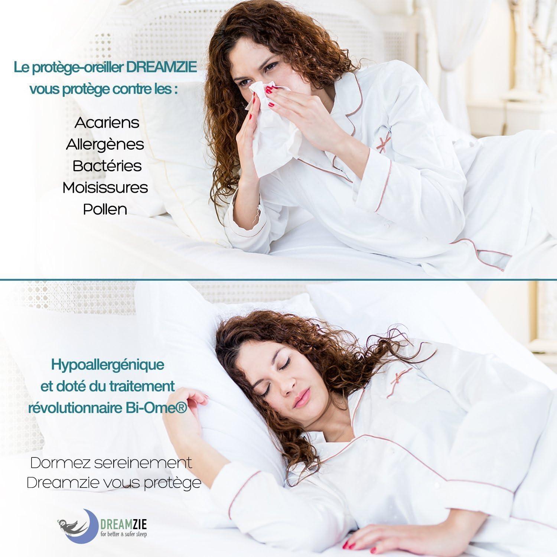 Dreamzie Set 2 x Copricuscini Impermeabili 40x70 cm Copriguanciale Traspiranti Tessuto 100/% Cotone Oeko Tex/® Garanzia 10 Anni Anti-Batteri Ipoallergenici Anti-Acari