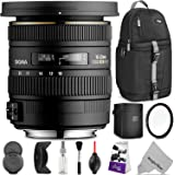 Sigma 10-20mm f/3.5 EX DC HSM ELD SLD Wide-Angle Lens for CANON DSLR Cameras w/Essential Photo and Travel Bundle