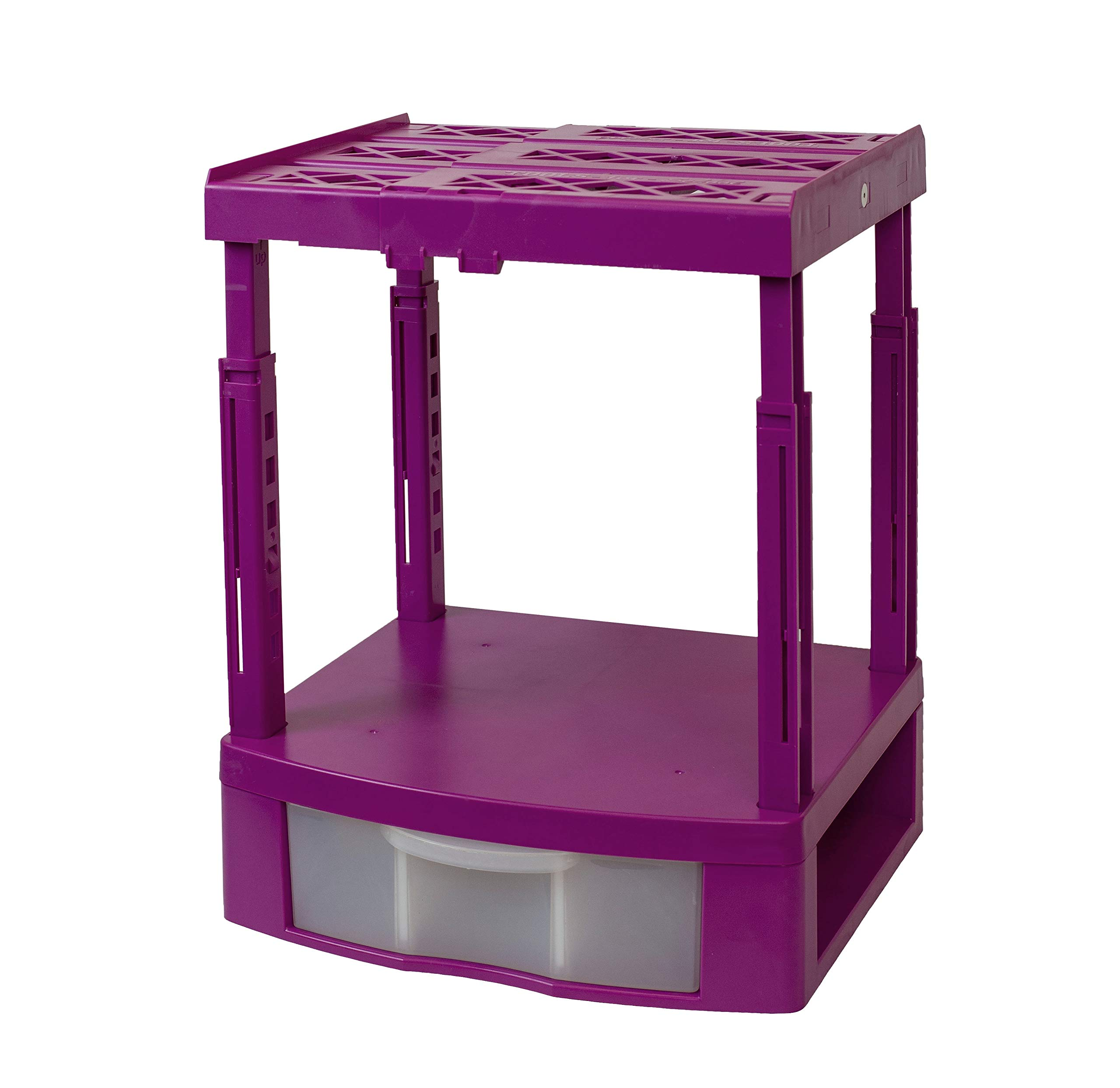Tools for School Locker Organizer - Double Drawer with Height Adjustable Shelf (Magenta) by Tools for School