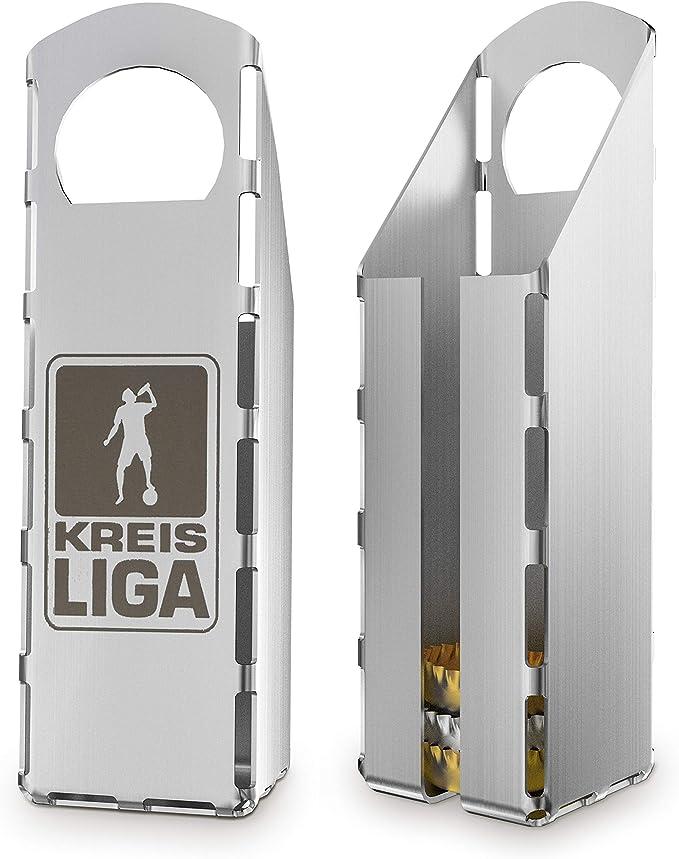 Compra Mifratec Kreisliga - Abrebotellas, con recipiente para chapas integrado, acero inoxidable de alta calidad (fabricado en Alemania) en Amazon.es