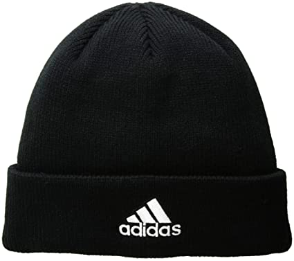 new arrivals 3da3f 8e4f0 adidas Men s Team Issue Fold Beanie, Black White, One Size