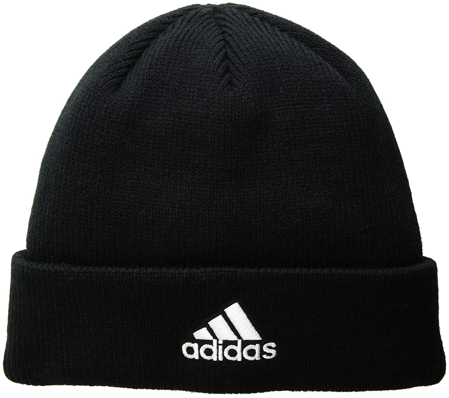 05a08b20 Amazon.com: adidas Men's Team Issue Fold Beanie, Black/White, One Size:  Clothing