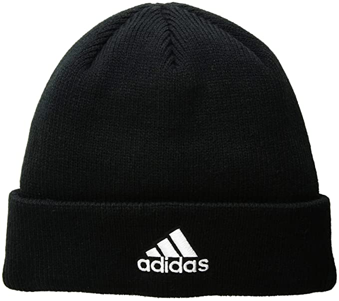 c29be636 Amazon.com: adidas Men's Team Issue Fold Beanie, Black/White, One ...