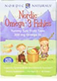 Nordic Naturals Nordic Omega-3 Fishies, Tutti Frutti - 36 Fishies, Pack of 2 - 300 mg Total Omega-3s with EPA & DHA…