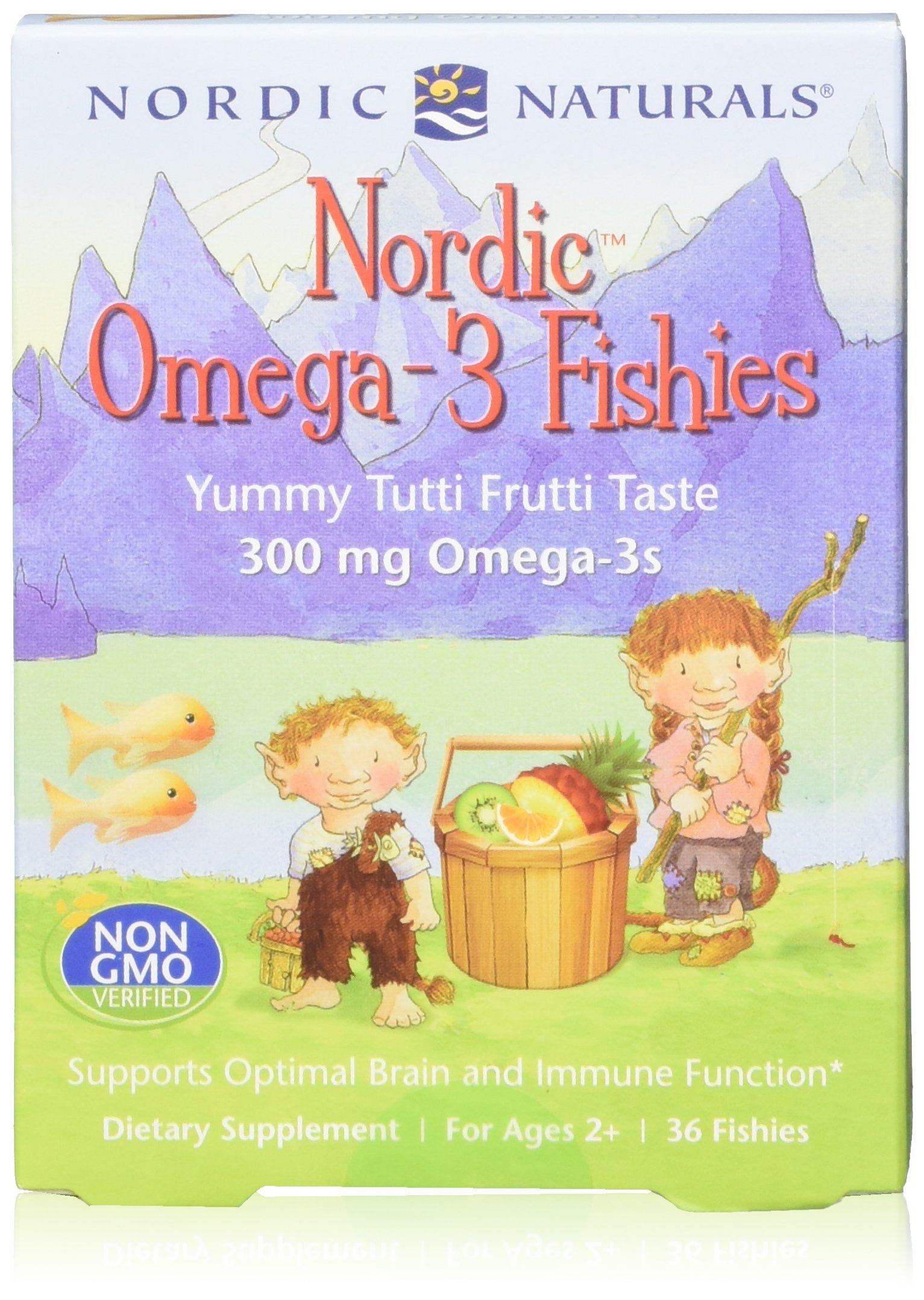 Nordic Omega-3 Fishies, 36 Fishies 2-pack by Nordic Naturals (Image #1)