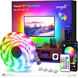 LED Strip Lights, Maylit TV LED Backlight 6.56ft for 40-60in TV Bluetooth Control Sync to Music, USB Bias Lighting TV…