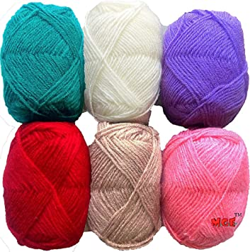 7a5d84ec8291f Vardhman Bunny Mix 3 Wool Ball Hand Knitting Wool Art Craft Soft Fingering  Crochet Hook Yarn