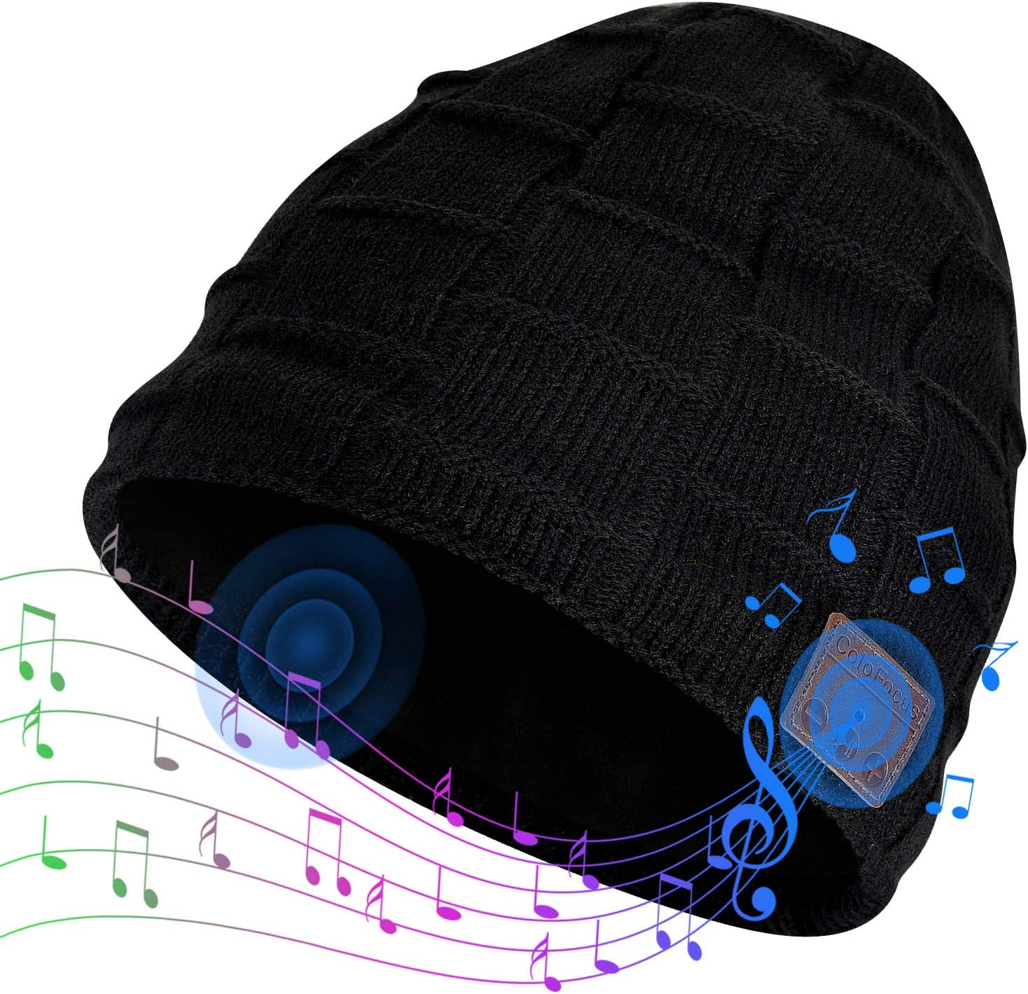 Music Hat with Headphones Unique Gifts for Men Women ColoFocus Bluetooth Beanie