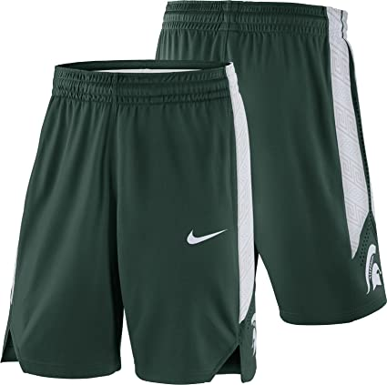 43dca9df8a5 Nike Men s Michigan State Spartans Green Replica Basketball Shorts ...