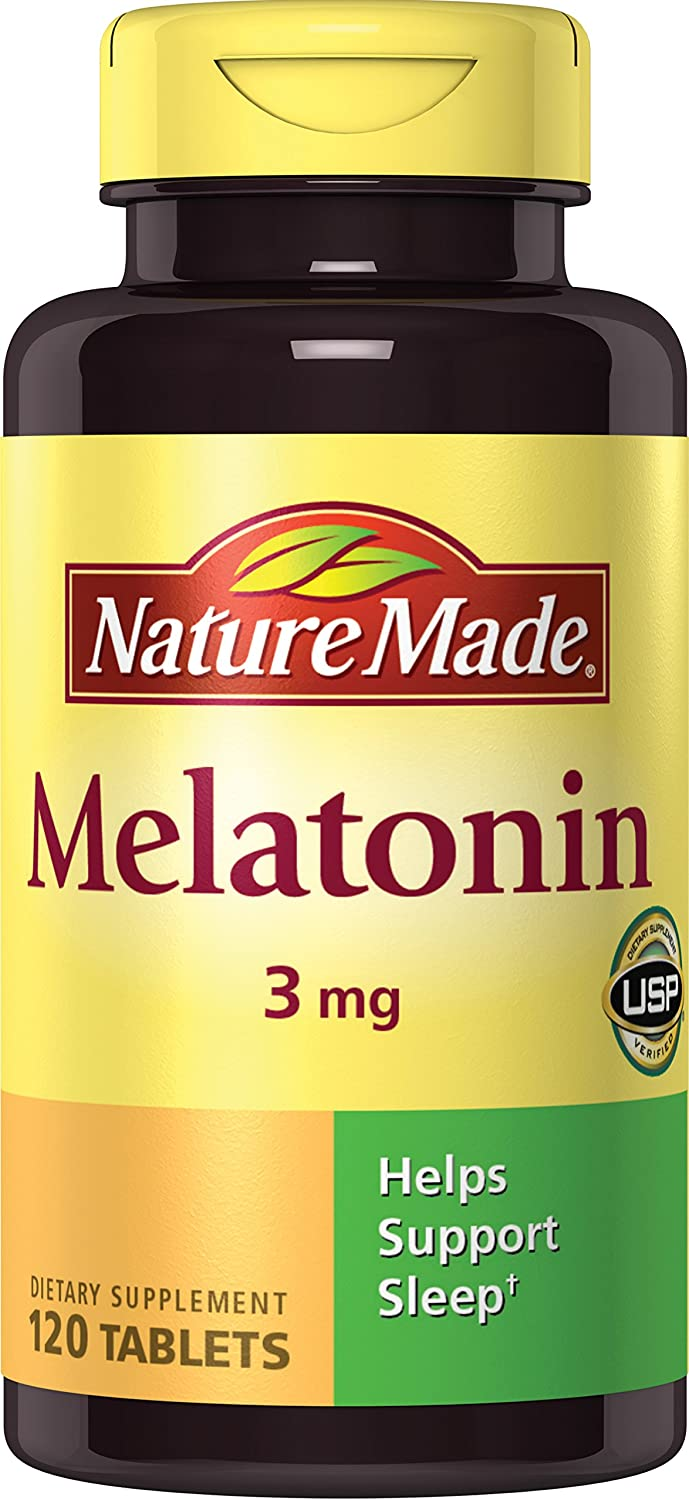 Nature Made Melatonin Tablets, 120 Count (Pack of 2)