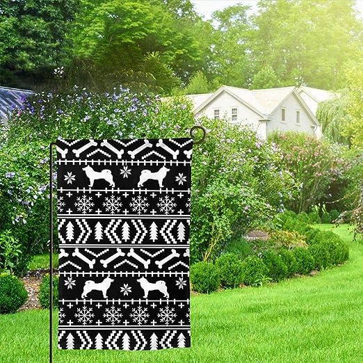IconSymbol Garden Outdoor Flag Stand Banner Akita Fair Isle Dog ...