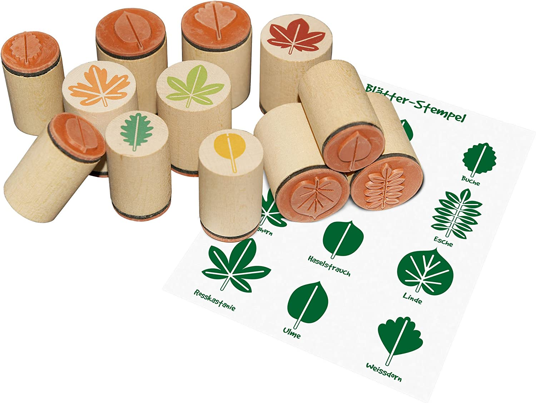 Sello de madera hojas, madera sello hawib hojas, hojas sello ...