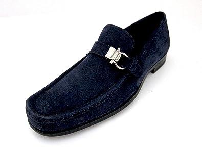 360247a14dd Amazon.com  Salvatore Ferragamo Muller Mens Blue Suede Loafers Made ...