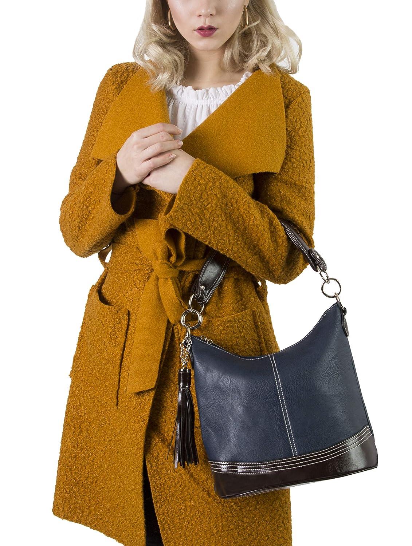 3661f441ba Big Handbag Shop - Elegant sac porté épaule et bandoulière pour femme avec  pompon décoratif style seau - Chic et casuel (Beige): Amazon.fr: Chaussures  et ...