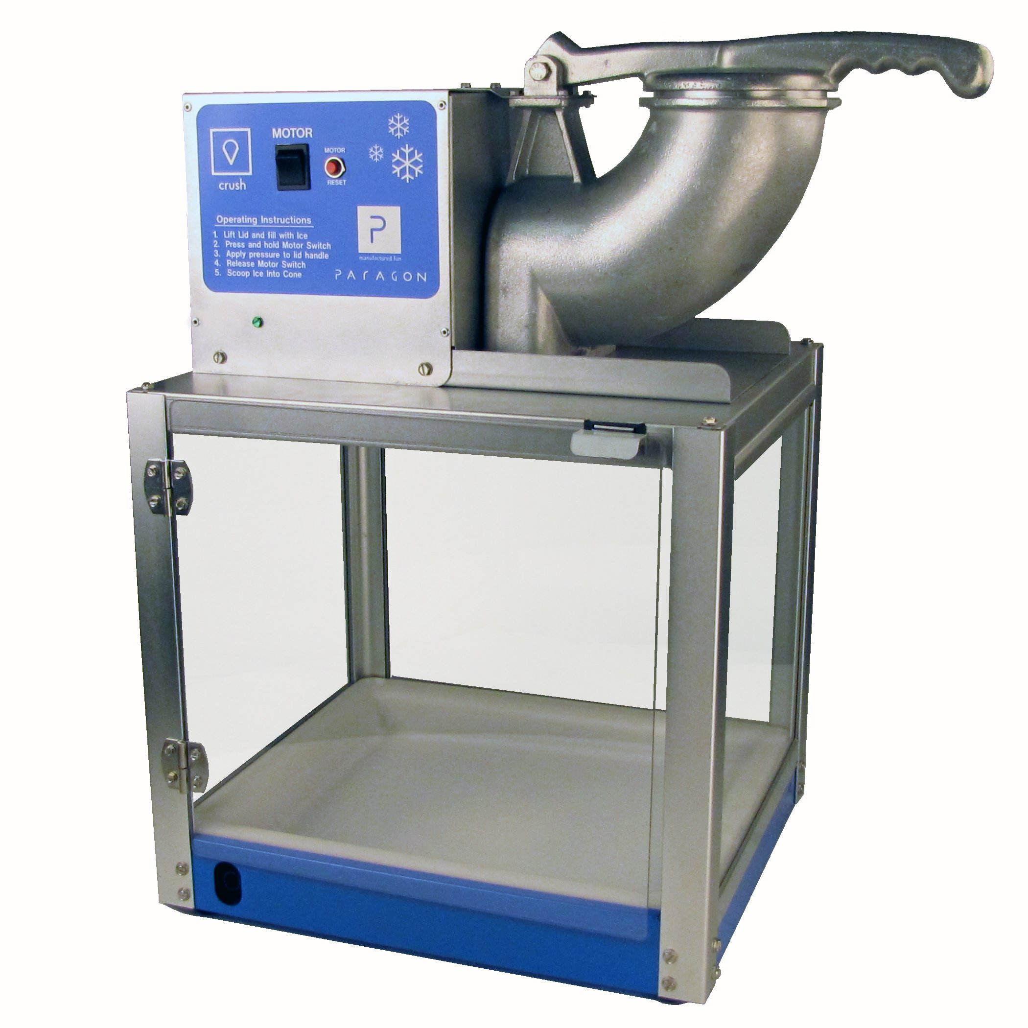 Paragon Simply-A-Blast SNO Cone Machine for Professional Concessionaires Requiring Commercial Heavy Duty Snow Cone Equipment 1/3 Horse Power 792 Watts by Paragon - Manufactured Fun