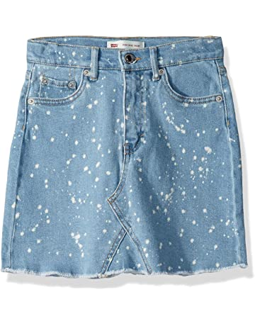 1d7707d7756da7 Levi's Girls' High Rise Icon Denim Skirt