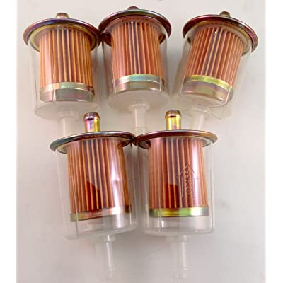 """3/8"""" Universal Inline Gas Fuel Filters Industrial High Performance - 5 pack: Automotive"""