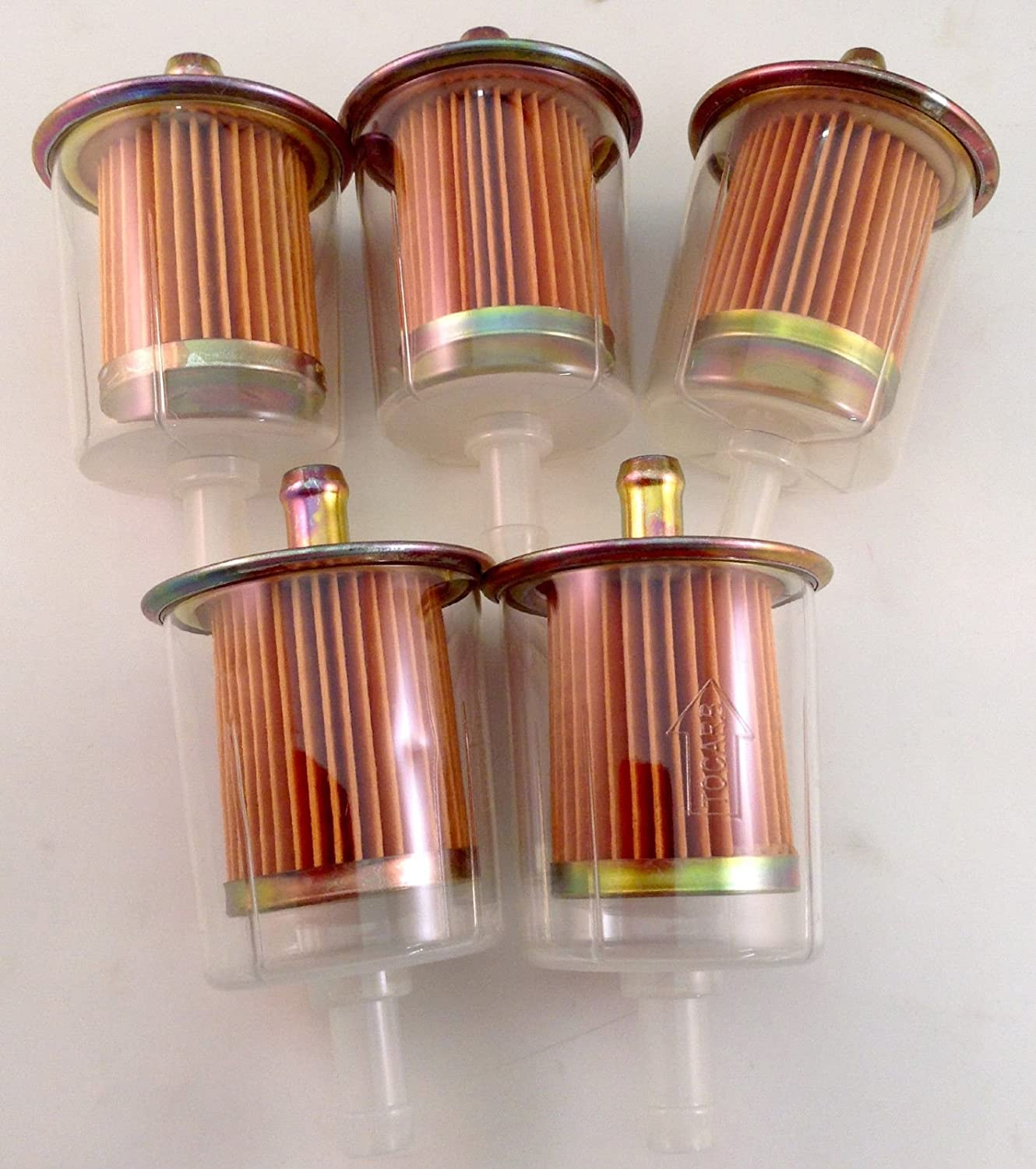 5 pack 3//8 Universal Inline Gas Fuel Filters Industrial High Performance