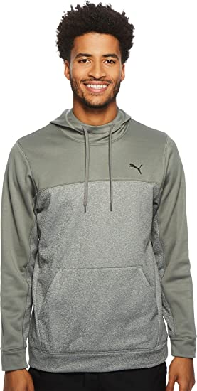 PUMA Men's Action Fleece Hoodie Smoked Pearl/Medium Gray Heather XX-Large