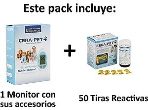 Medidor de glucosa en sangre para su uso en perros y gatos + Recambio de 50