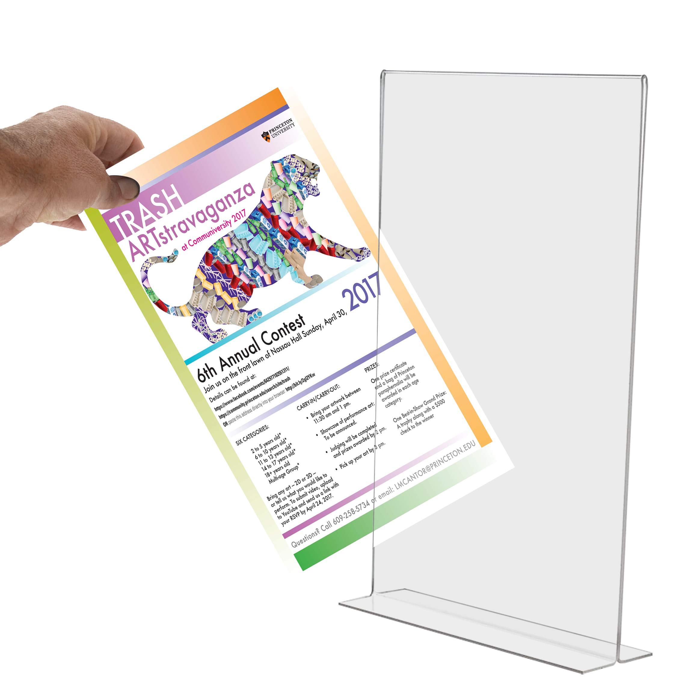 Marketing Holders Literature Flyer Poster Frame Letter Notice Menu Pricing Deli Table Tent Countertop Expo Event Sign Holder Display Stand Double Sided Bottom Loading 11''w x 17''h Pack of 4 by Marketing Holders (Image #7)