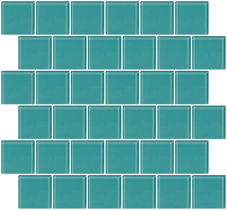 Susan Jablon Mosaics - 2x2 Inch Light Sage Green Glass Tile Reset In ...
