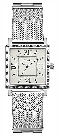 Guess Reloj Análogo clásico para Mujer de Cuarzo con Correa en Acero Inoxidable W0826L1