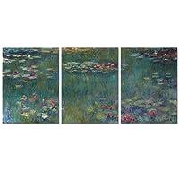 Maison Artwork Imagismo Famoso Claude Monet Ninfea Pittura ad olio Riproduzioni su tela Stampe su tela Paesaggio Decorazioni da parete Per soggiorno Nessuna cornice