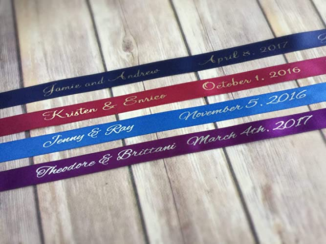 Amazon 100 Yards Personalized Ribbon Custom Wedding Ribbon