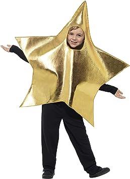 Smiffys-45484 Disfraz De Estrella Brillante con Tabardo, Color Oro ...