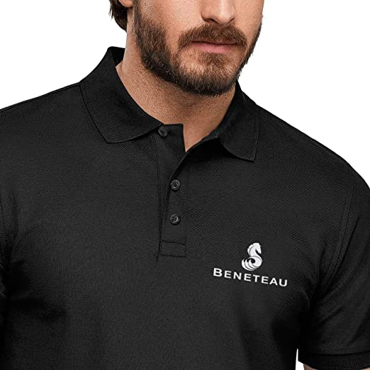 Mens Casual Pique Polo T Shirt Fit Wellcraft Logo World White Adjustable Outside Short-Sleeves