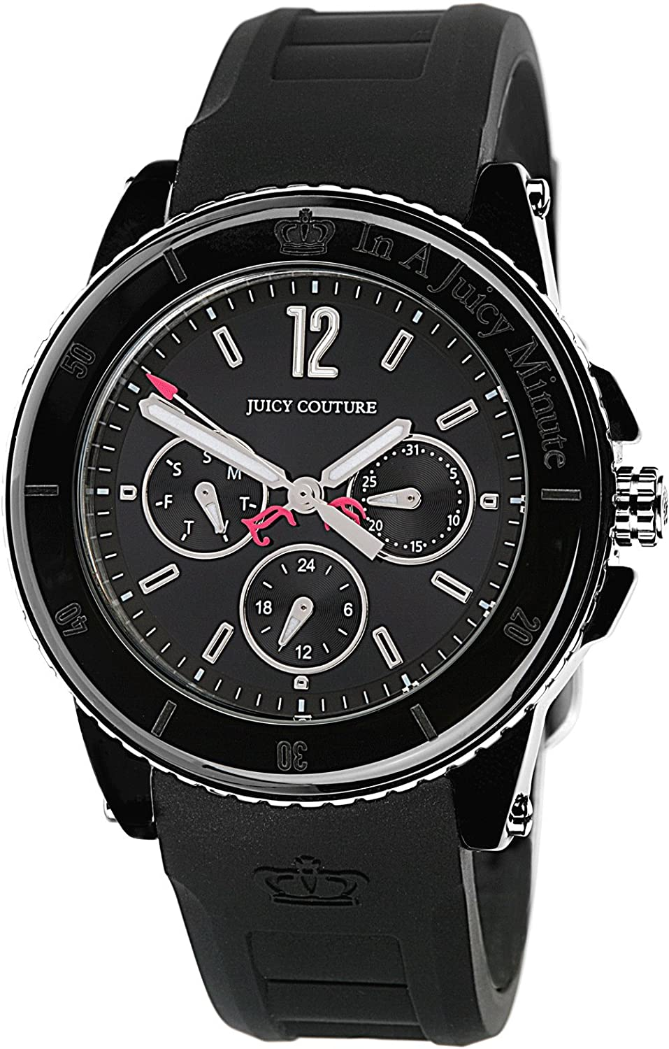 Juicy Couture ladies' 'Pedigree' Black Silicon Strap Watch 1900754